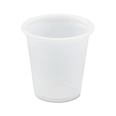 SOLO Cup Company SLOP075 Plastic Souffle Portion Cups, 3/4 oz, Translucent, 5000 Per Carton