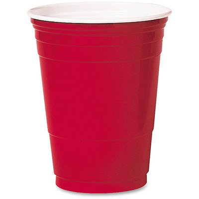 Solo Inc. Plastic Cups Solo 16 Oz Cold, Red, Pack of