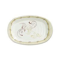 SOLO Cup Company Symphony Paper Dinnerware, Heavyweight Platter, 6