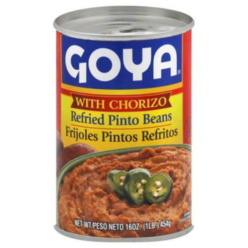 Goya Beans Refried Pinto With Chorizo 16 Oz Case of 12
