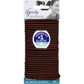 Goody Products Inc. Ouchless Hair Elastics- Chocolate Cake, 30 pcs