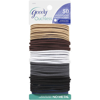 Goody Products Inc. Ouchless Thin Braided Elastics, Neutral, 51 pcs