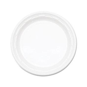 DART Plastic Plates, 9 in, White, 500 Per Case DCC 9PWF