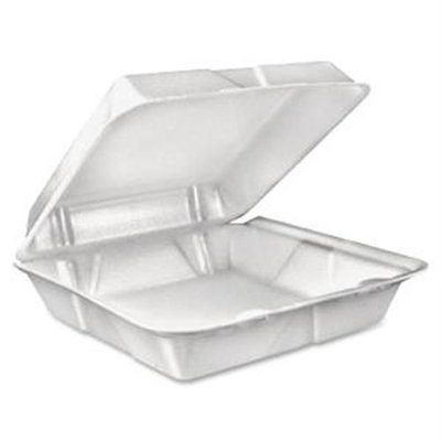 Dart 90HT1R Large 1-Comprtmnt Carryout Foam Food Trays - 9