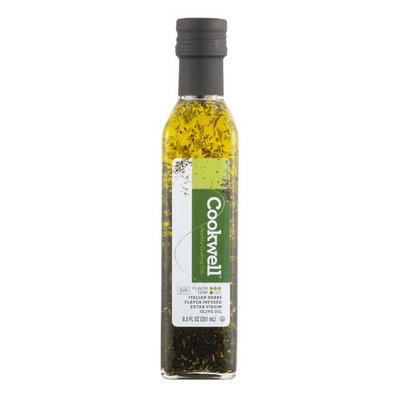 Cookwell Italian Herb Flavor Infused Extra Virgin Olive Oil, 8.5 fl oz