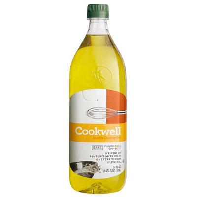 Cookwell Sunflower Oil & Extra Virgin Olive Oil, 34 fl oz