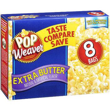 Pop Weaver Extra Butter Popcorn, 8 Pk