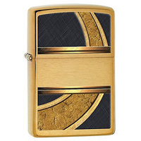 Zippo 28673 Classic Gold And Black Windproof Pocket Lighter