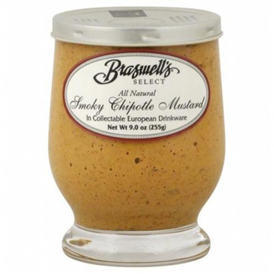 KeHe Distributors 55098 BRASWELL MUSTARD SMOKY CHIPOTLE - Pack of 6 - 9 OZ