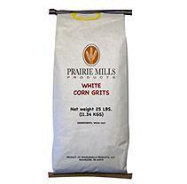 Prairie Mills White Corn Grits - 25 lb. bag - Hot Cereal
