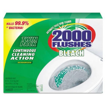 2000 Flushes Chlorine AntiBac, Automatic Toilet Bowl Cleaner, 2 pack