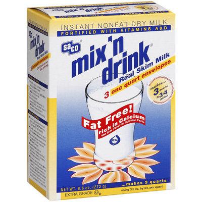 Saco Real Skim Milk Mix N Drink, 9.6 Oz