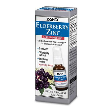 Elderberry Zinc Liquid Lozenge Zand 1 fl oz Liquid