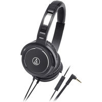 Audio-Technica ATH-WS55iBK Solid Bass Over-Ear Headset for iPod/iPhon