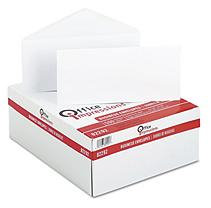 Office Impressions Plain Envelopes, #10, White, 500/Box, 5 Boxes/Ctn