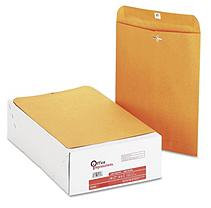 Office Impressions Brown Kraft Clasp Envelopes