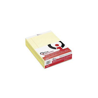 Office Impressions Perforated Ruled Pads, 12pk, Canary