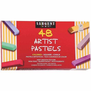48Ct Assorted Color Artists Chalk Pastels Lift Lid Box