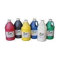 School Specialty Pub Sax 6 Pack True Flow Medium Body Acrylic Paint Set - Assorted Vibrant Colors - 0.5 Gallon Containers