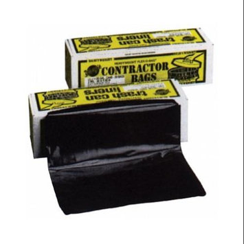 Warp Brothers Commercial Can Liners Black twist ties Trash Bags, 55