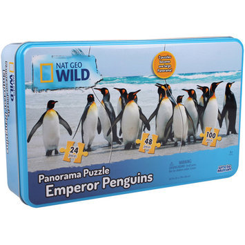 Uncle Milton National Geographic WILD Panorama 3-in-1 Puzzles Emperor Penguins