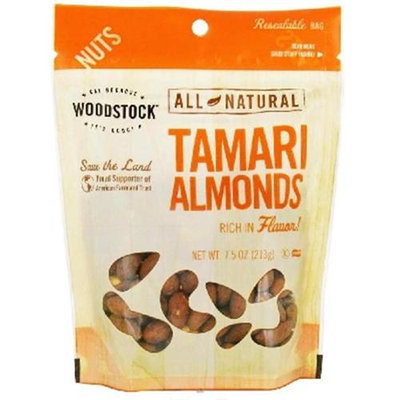 Woodstock Farms Woodstock BG19726 Woodstock Tamari Almonds - 8x7. 5OZ