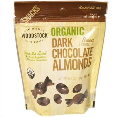 WOODSTOCK FARMS Organic Dark Chocolate Almonds 7 OZ