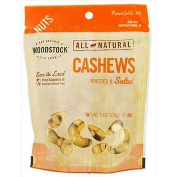 Woodstock All Natural Cashews Roasted & Salted 6 oz