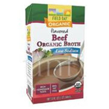 Field Day Broth 95 percent organic Beef Low Sodium 32 Oz - Pack of 12 - SPu1150911