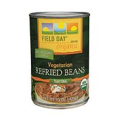 Field Day Vegetarian Refried Beans 15 Oz -Pack of 12