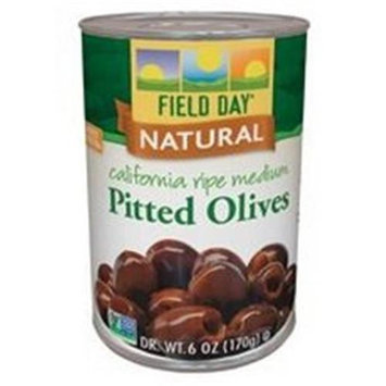 Field Day Olives Med Pitted Ca Ripe 6 Oz -Pack of 12