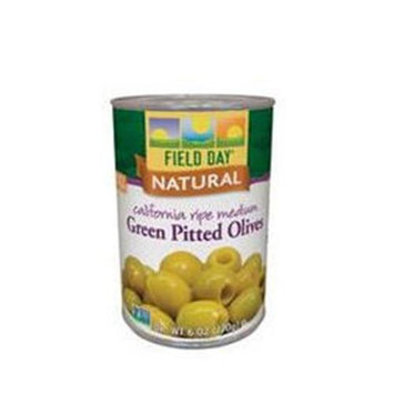 Field Day Olives Grn Med Ptd Ca Rip 6 Oz -Pack of 12