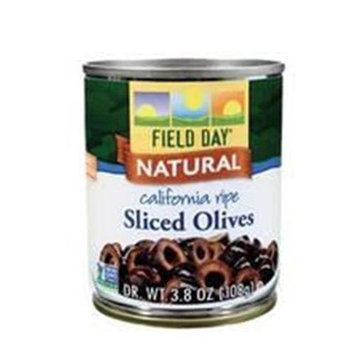 Field Day Olives Sliced Ca Ripe 3.8 Oz -Pack of 12