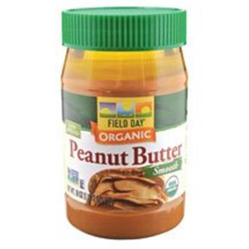 Field Day Smooth Organic Peanut Butter, With Salt, 18 oz