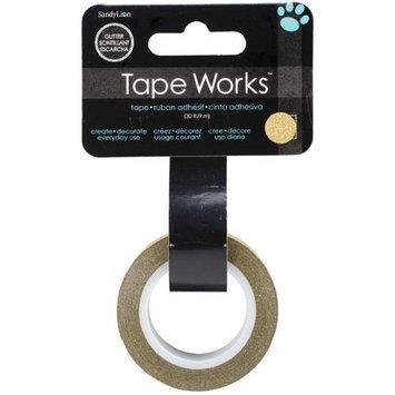 Sandy Lion Sandylion SCG-6006 Tape Works Glitter Tape .5 in. X30-Solid Gold