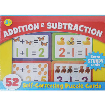 Kohls Addition And Subtraction Self-Correcting Puzzle Cards