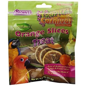 Brown's Tropical Carnival Orange Slices Bird Treats, .75 oz.