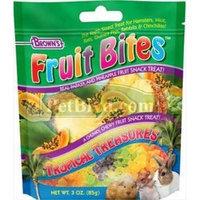 F.m. Brown Pet F.M. Browns Fruit Bite Treat Tropical Treasures 3 Oz.