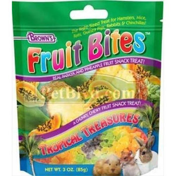 F.m. Brown Pet F.M. Browns Fruit Bite Treat Tropical Treasures 3 Oz.