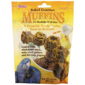 F.m. Brown Pet F.M. Browns Pet Baked Gourmet Muffins F/Hookbills 3.5 Ounce