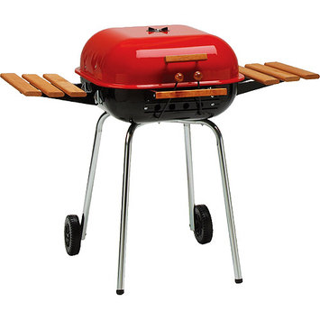 Meco Grills Meco Series 4100 Model 4106 Square Utility Charcoal Grill, Red