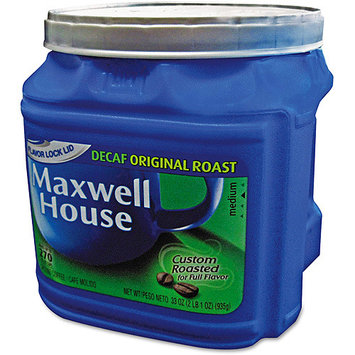 Five Star Distributors, Inc. Maxwell House Coffee, Decaffeinated Ground Coffee, 33 oz. Can