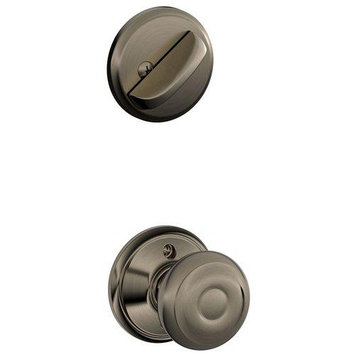 Schlage F59GEO620 Georgian Single Cylinder Interior Pack Ant. Nickel