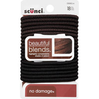 Scunci 5888303A048 18 Count Beautiful Blends Hair Elastics - Pack of 3