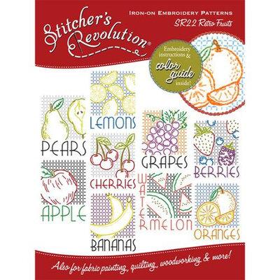 Aunt Martha's Aunt Marthas SR-22 Stitchers Revolution Iron-On Transfers-Retro Fruit