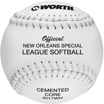 Worth Official New Orleans Special League Softball (Dozen)
