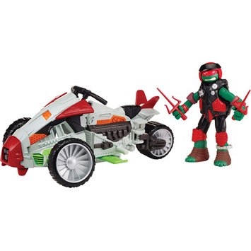 Playmates Teenage Mutant Ninja Turtles Vehicle with Figure - Mutating Tri-Flyer