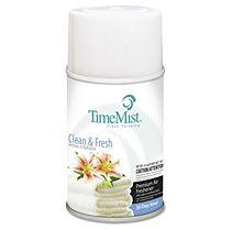 TimeMist Metered Aerosol Dispenser Refill, Clean & Fresh, 12/carton