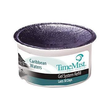 TimeMist Fragrance Cup Refill, Caribbean Waters, 1oz, Gel, 12/Carton