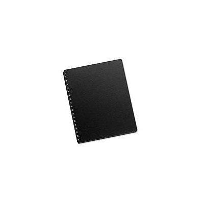 Fellowes Futura Black Oversize Binding Covers, 25 Pack